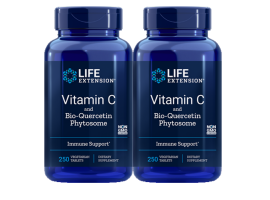 [BUNDLE] Life Extension Vitamin C and Bio-Quercetin Phytosome, 1000 mg, 250 vegetarian tablets